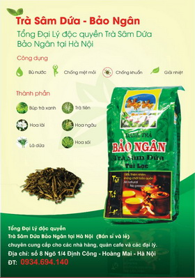 Trà Sâm Dứa Hà Nội